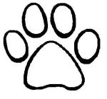 Dogs Paws Coloring