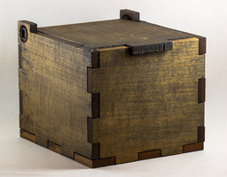 Wooden Rustic Stash Box by gantonski