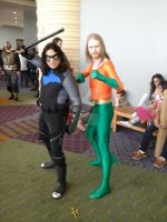 Aquaman (90's Style) And Nightwing by joker99xdraven