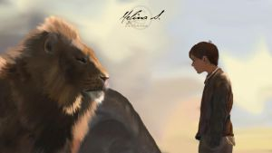 Aslan and Edmund - Narnia by Felicence