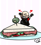He loves sandwiches! by 0alicecila0