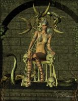 The Queen...and her pets by vaia