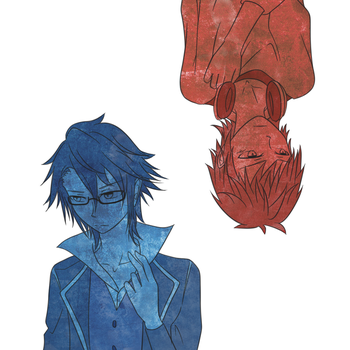 Blue and Red by KeiHoshi