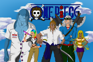 Crew of a One Piece Pen and Paper game by HappyPixelKitten