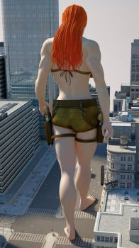 Cassie Croft 300ft 2 by Tiny-Mk by Giantess-Cassie