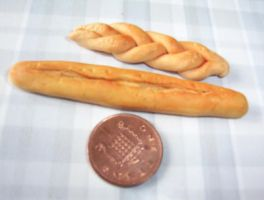 MINATURE FOOD   BREAD LOAVES by Victim-RED
