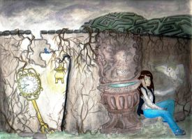 Lost in Jareth's Labyrinth by griffon-rider-Ann