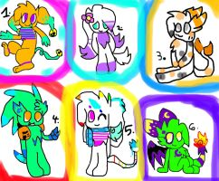 Adoptables!!:Closed: by Kassy1011