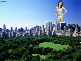 Giantess Selena Gomez by misterwerder