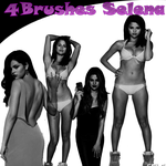 Selena Gomez Brushes by SelenaPurpleewDirect