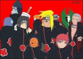 Akatsuki Gang Full Colored by wolfgirl-el
