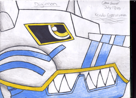 Kendo Garurumon by Dark-kitten158