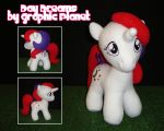 My Little Pony G1 Baby Moondancer Plush by GraphicPlanetDesigns