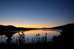 Sunrise at Crystal Springs Reservoir by FeralWhippet