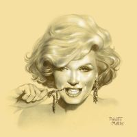 Marilyn play with an earring by Pablito-Matito