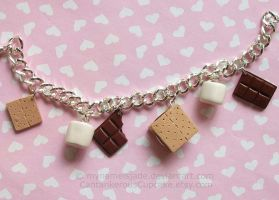 S'mores Bracelet by CantankerousCupcake