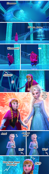 Elsanna - Anna's Reaction to Elsa in her Ice Dress by rigvedas