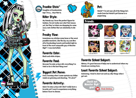 Monster High FrankieStein Profile by SweetieShelly