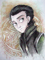 Loki Watercolor by sharkie19