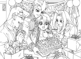 Happy Birthday Aster -line art by jacemoore