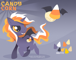 Candy Corn (BatPony OC) by zombie