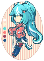 Blue Neko Adopt Auction CLOSED by Iwatori