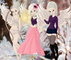 Whitemoon and her sisters by PrincesaSevilla