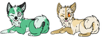 Husky puppies adoptables 2 by Skaylyt