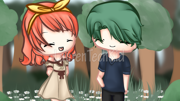 Young Alm, Celica - Fire Emblem Echoes by LaurenTechKid