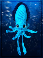 Turquoise Squid Amigurumi by Siobhan68