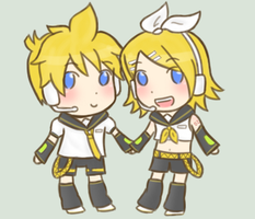 :VOCALOID: Chibi twins by s-a-n-d-y