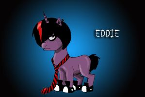 Eddie the Emo Unicorn by RoxxiWarhol
