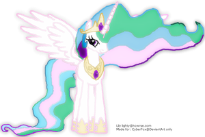 Princess Celestia for CyberFox@Deviant art.com by Gliffendor