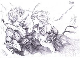 Tidus and Yuna Fade by L0oKyNumBaS11