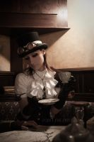STEAMPUNK_ Teatime Meanwhile by TheOuroboros