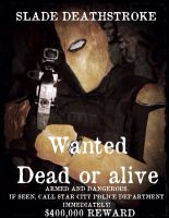 Deathstroke Wanted Poster by Cadmus130