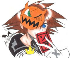 Kingdom Hearts--Halloween Sora by tofumi