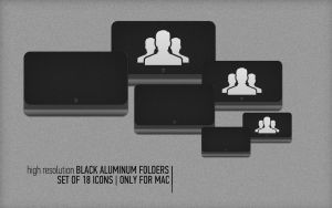 Black Aluminum Icons Set by FocusMan