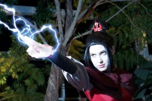 Azula with lightning by bratkartoffel