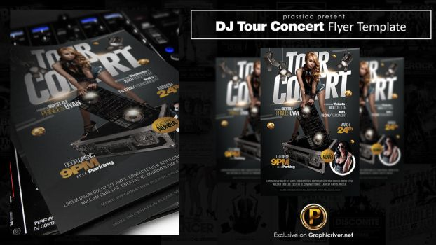 DJ Tour Concert Flyer Template by prassetyo
