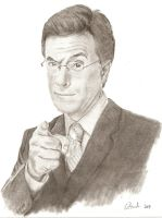 Portrait: Stephen Colbert by fadedsg