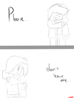 Don't leave me.. by SapphireCharm0089