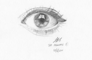 20 Minute Eye Sketch by Kalgoras