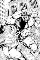 Storm Vs Hulk Inks by blademanunitpi