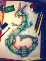 Sky High Pokemon Rayquaza by ZephVee