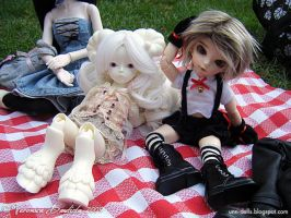 Ivory and Aslan in the bday by Dynamene-Dolls