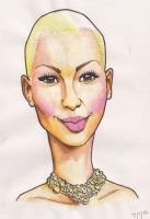 Amber Rose Caricature by j0epep