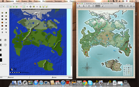 TwoKinds Map for Minecraft sketch by Lehzz
