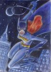 Batgirl Over Gotham by LEXLOTHOR