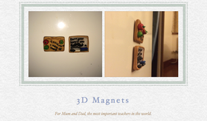 3D magnets by BeeTrue